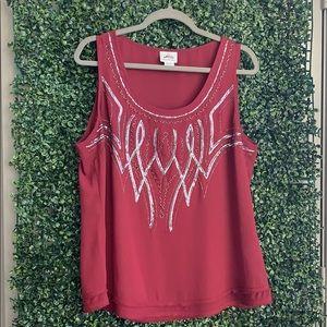Ariat XL sleeve less blouse